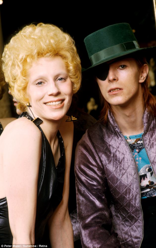Exotic: Angie and David Bowie, pictured in 1974, were known as the first couple of glam rock and shocked Seventies Britain with their wild antics