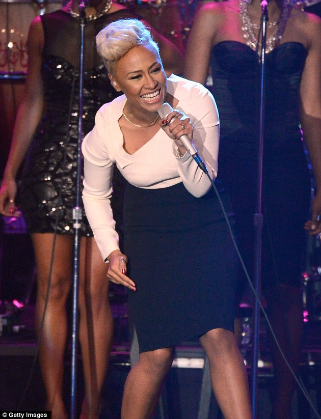 Trim figure: Emeli debuts her slimmer figure after slimming down before trying to crack the US