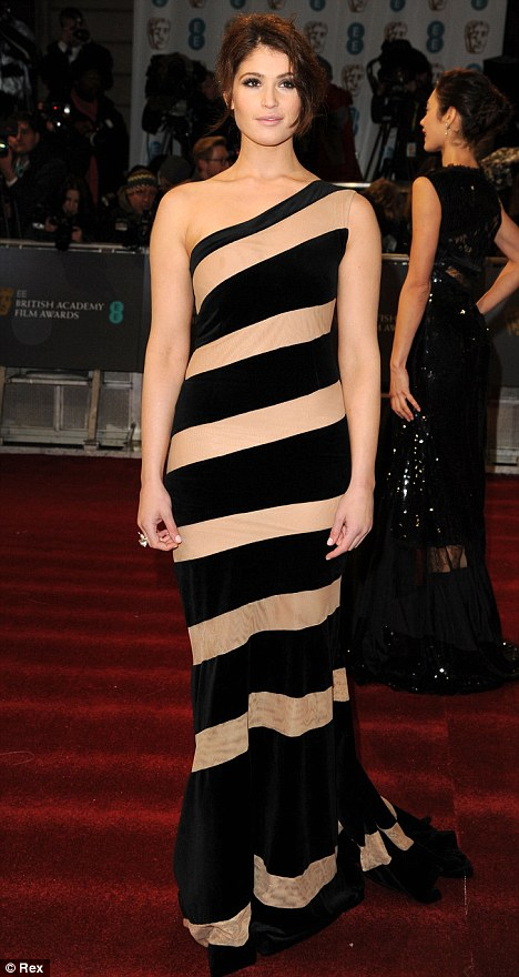 Daring fashion choices: Newly-single Gemma Arterton and Alice Eve went for unusual dresses for the occasion