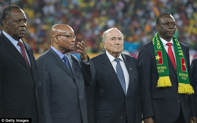 Warm welcome: FIFA president Sepp Blatter was made to feel at home in Johannesburg