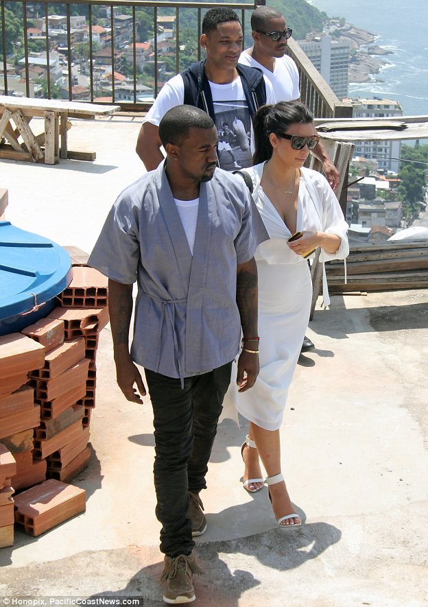 So much to see: The trio travelled to nearby Vidigal where they admried views of the famous Ipanema Beach
