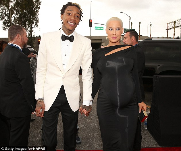 Nervous anticipation: Wiz is nominated for two Grammy Awards, for Best Rap Song and Best Pop Duo/Group Performance