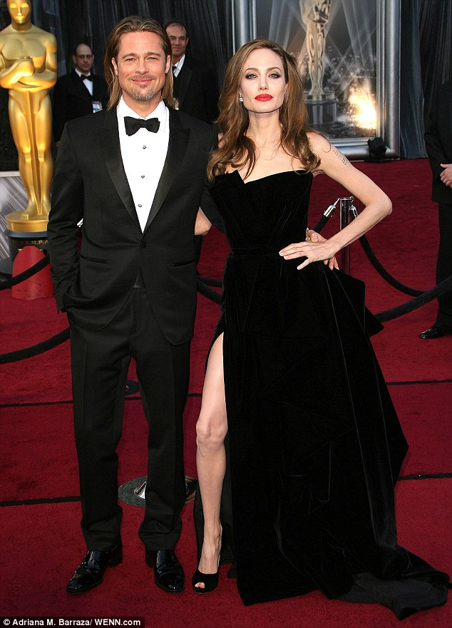 No one has forgotten what she wore last year! Angelina made her thigh a talking point at the 2012 Oscars