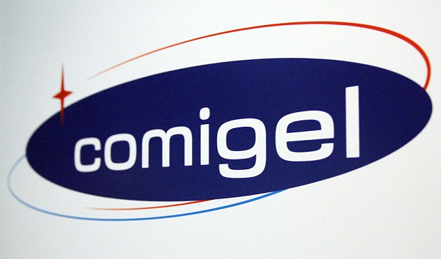 The logo of Comigel, the French food company that supplied frozen lasagne found to contain up to 100 per cent horsemeat to British supermarkets, including supermarket leader Tesco