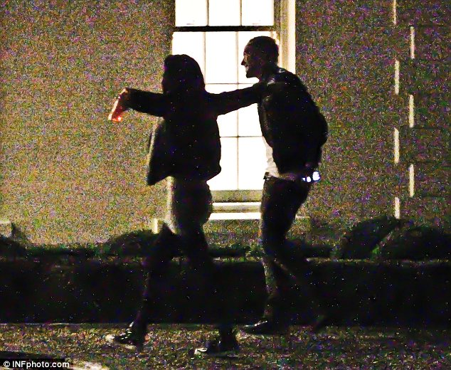 Look how big it is! Tulisa was seen showing Danny around and he seemed impressed with her pile