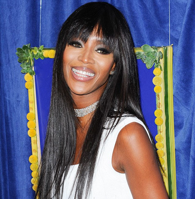 Supermodel: Naomi Campbell attends the season premiere of The Face in New York on February 5