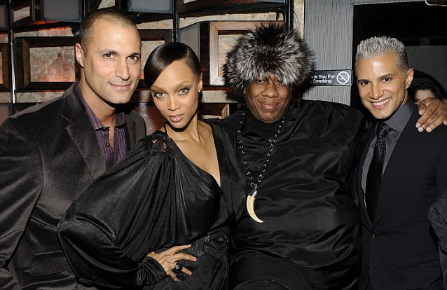 Old pals: Nigel Barker with Tyra Banks, Andre Leon Talley and Jay Manuel at the CW Network Reality launch party in New York in February 2010