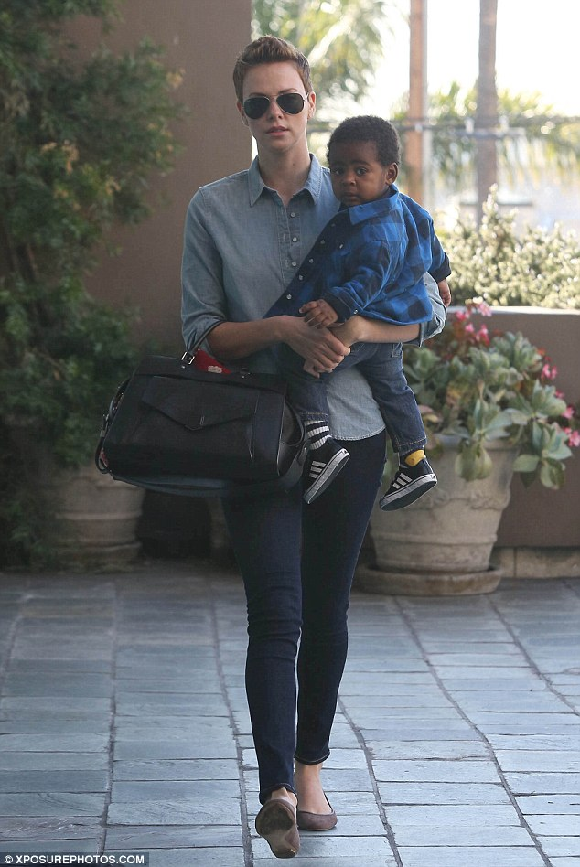Bonding: Charlize thinks the classes are a wonderful way for Jackson to bond with her and with other children