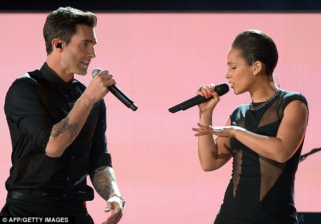 Performance: The family were enjoying some down time after Alicia performed at the Grammys over the weekend with Maroon 5