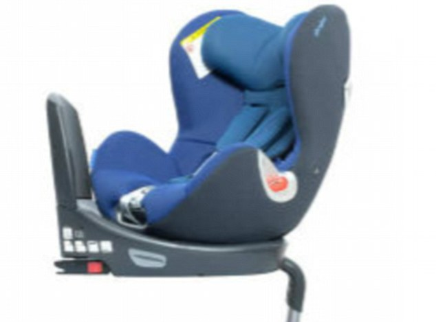 Safety first: The Cybex Sirona 'allows a child to be rear facing for longer which is 80% safer than forward facing'