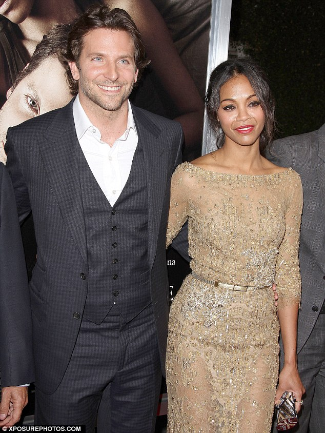 In happier times: Zoe was said to be keen to reconcile her relationship with Bradley Cooper after the pair parted ways in December