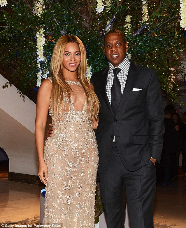 Happy: Beyonce and husband Jay-Z attend the after party following the premiere of her HBO Documentary Film