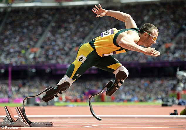 Star: Oscar Pistorius has reportedly been arrested this morning having shot his girlfriend in the head and arm, killing her