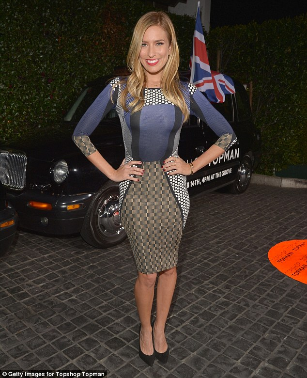 Not a Brit: Australian Extra host Renee Bargh also attended the event