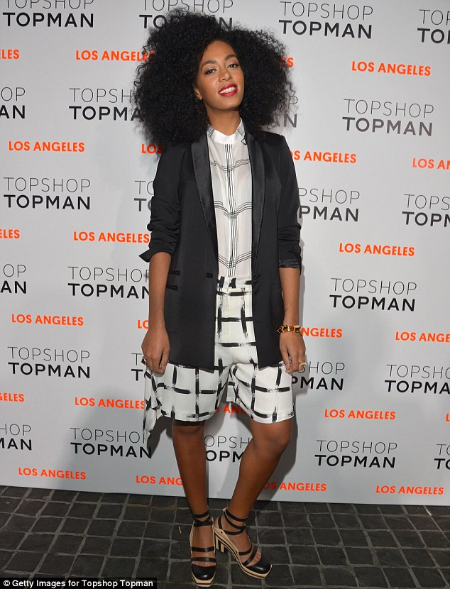 Hey shorty: Solange Knowles wore head to toe Topshop