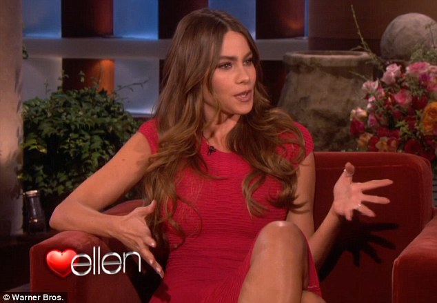 Close shave: Sofia shared the hilarious tale of her haphazard engagement with Ellen