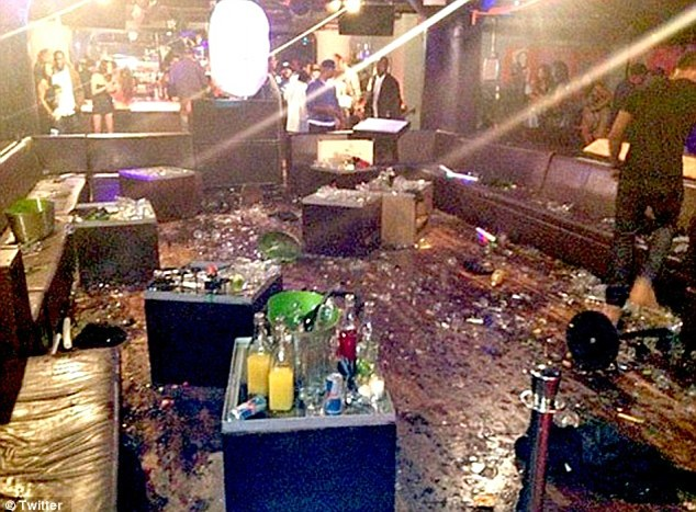 Aftermath: Several parties have filed suit against the owners of W.i.P nightclub, Brown and Drake following the bottle-throwing fracas on June 14