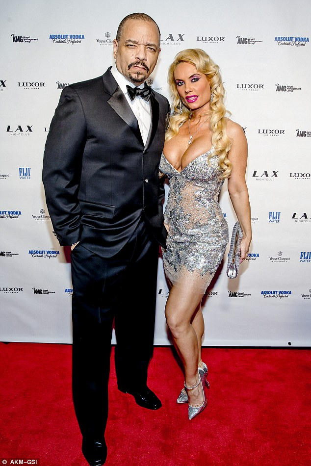 Missing you: Coco also tweeted that she can't wait to see her husband Ice-T, 'My heart skips a beat everytime I see u even after 12 yrs'
