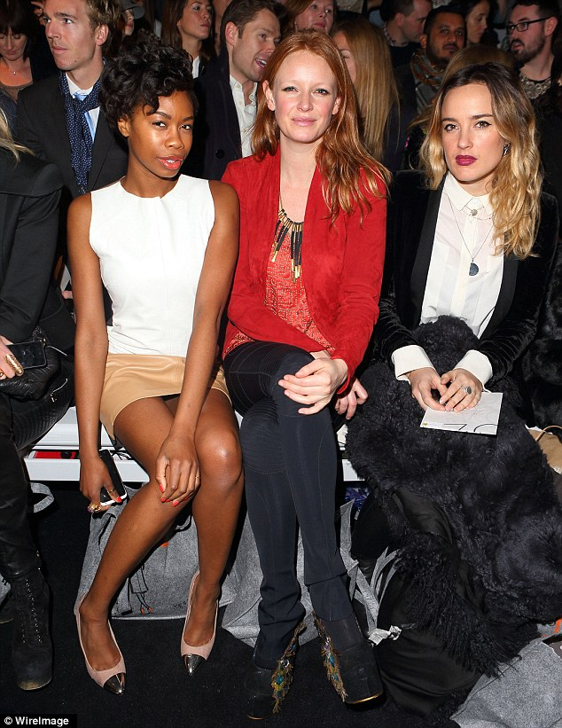 Style on the FROW: Olivia was joined by Tolula Adeyemi on the front row as Zoe debuted her a/w 2013 collection
