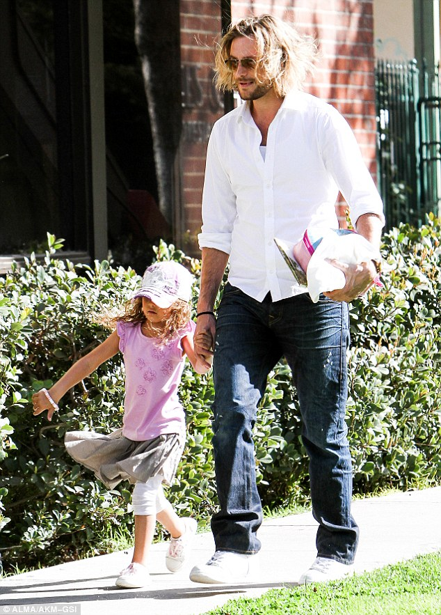 Bitter relations: Aubry won the battle to keep Nahla in the US after Berry and her French fiance, Olivier Martinez, wanted to take his daughter to live in France