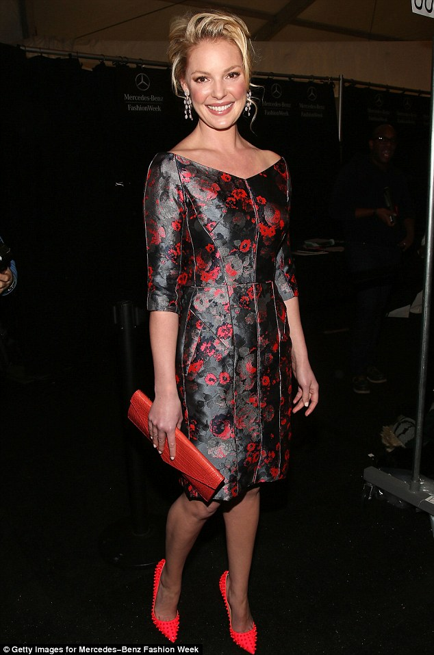 Fabulous in floral: On Wednesday, the star stepped out in a fabulous floral dress paired with neon studded Christian Louboutin stilettos as she attended the J. Mendel fashion show at the Lincoln Center in New York