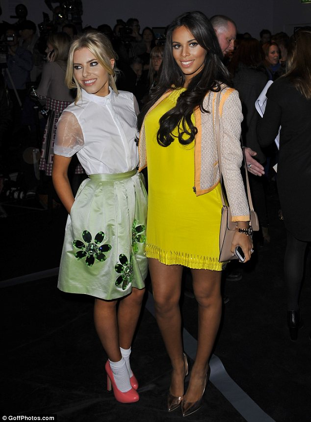 She's in fashion: Mollie also attended the Issa show with Rochelle, who had covered her baby bump in a sunny yellow dress
