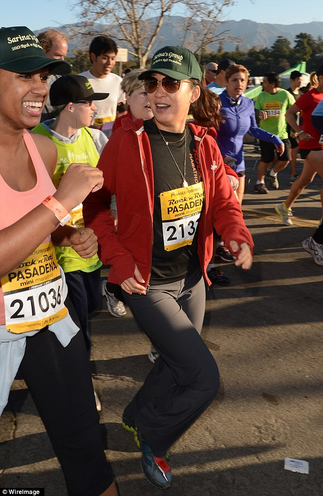 A head start: Sandra was thrilled to be participating in the marathon