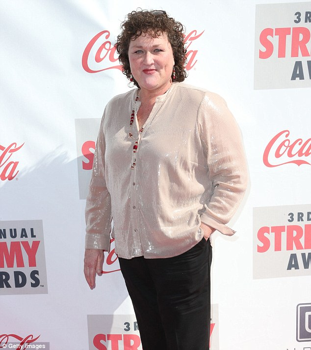 Champion coach: Fellow Glee star Dot Jones who plays the school's coach joined Josh and Lauren