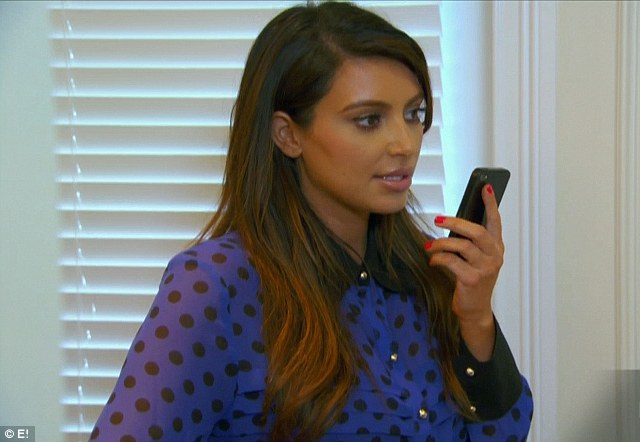 Sibling clash: Kim Kardashian had an argument over the phone with brother Rob in the latest episode of Kourtney & Kim Take Miami