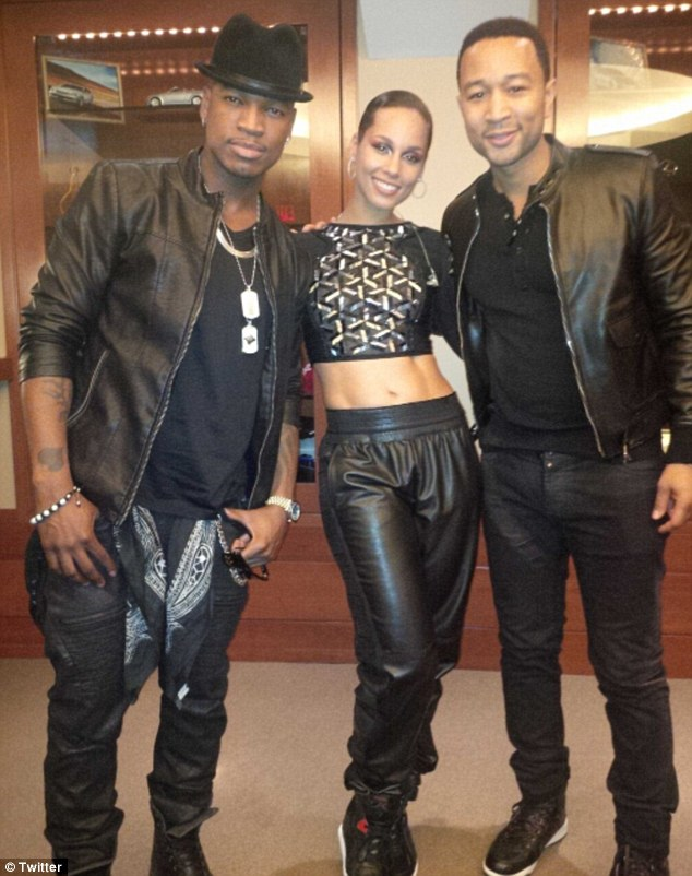Headliners: Alicia posted a snap along with fellow performers NeYo and John Legend