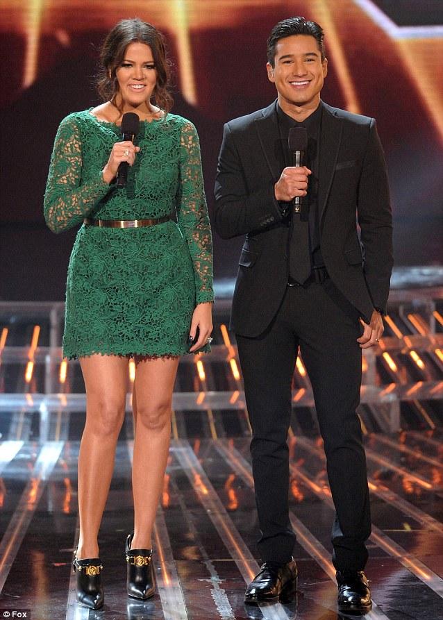 Khloe Kardashian Mario Lopez X Factor