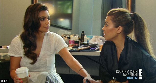 In your place: Hard working Kim agreed to cover Kourtney's QVC job on her day off
