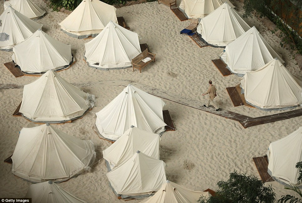 Simple: Guests can also stay in one of the beach tents