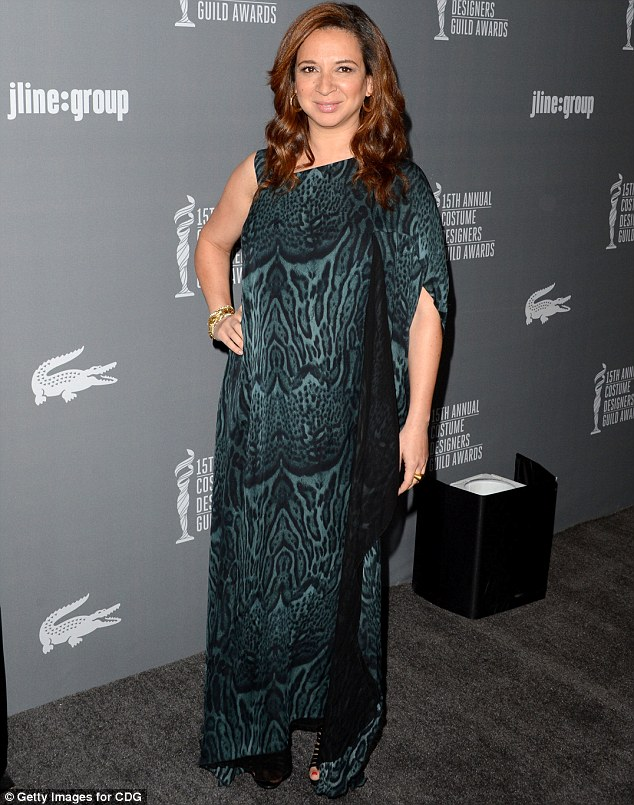 Masking a possible bump: Reportedly pregnant Maya Rudolph attended the 15th Annual Costume Designers Guild Awards on Tuesday