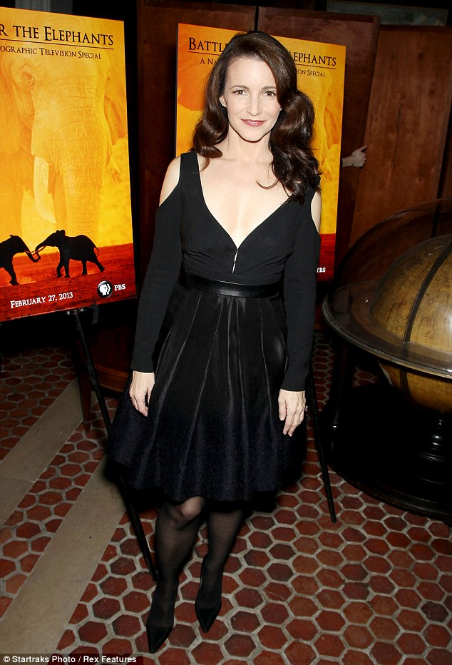 Stunning: Kristin, who is known for playing prim Charlotte York in Sex and the City, was dressed to impress