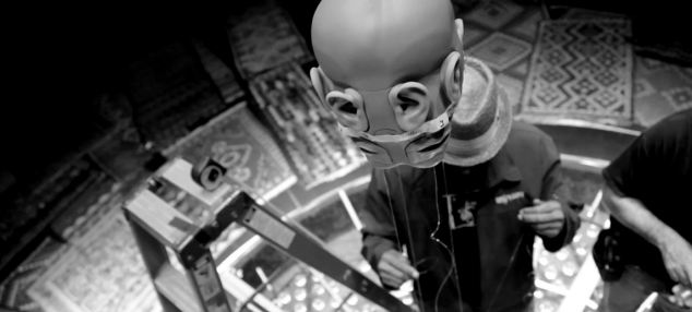 One of the 'heads' created to record 360 degree sound for the gig