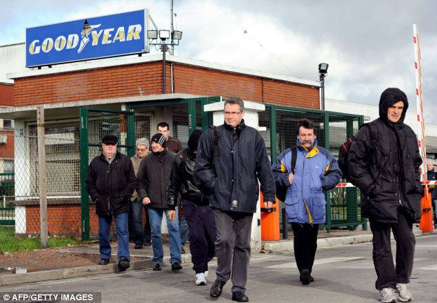 'Lazy, overpaid and talk too much': Workers leaving the doomed Goodyear tyre plant in Amiens, northern France which American tycoon Maurice Taylor has refused to rescue