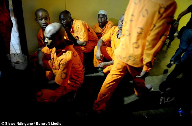 Notorious jail : It which was made famous as the location of capital punishment during the apartheid era - is said to be 'extremely overcrowded'