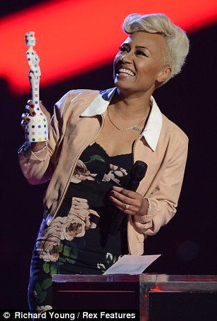 Double whammy: Emeli Sandé proved herself to be the Queen of the Brit Awards winning Female Solo Artist and British Album awards
