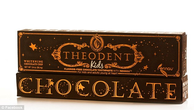 Tasty: Theodent promises to strengthen the enamel on teeth using an extract from cocoa