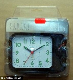 Terrorists bought this travel alarm from poundland or some other bargain store to trigger homemade bomb