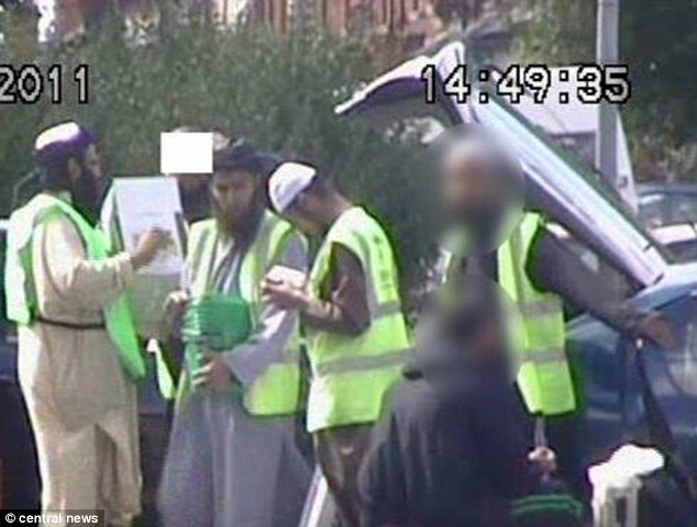 Islamic fundamentalists looking like members of the taliban. Collecting for terror: Irfan Naseer left and Irfan Khalid holding bucket undertake bogus charity collections in Birmingham to secretly raise funds for their bombing campaign