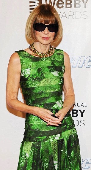 Editor-in-Chief of Vogue Anna Wintour