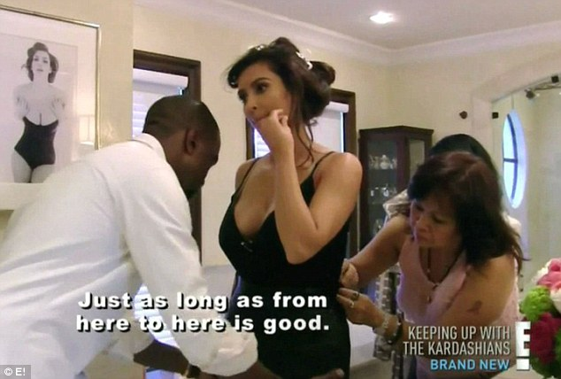 Style advisor: In one past episode of the show, Kanye was seen giving Kim style advice