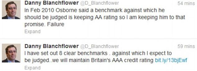 Opponent: Blanchflower has labelled Osborne a 'failure'