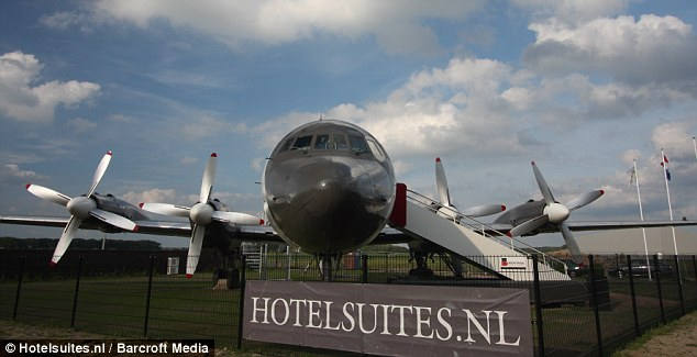 Quirky: The company behind the converted plane is famous for offering stays in prisons and other unconventional locales