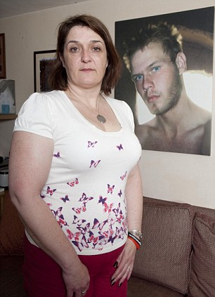 Lucy Aldridge, the mother of 18-year-old Rifleman William Aldridge, the youngest soldier killed in Afghanistan. He died in Sangin.