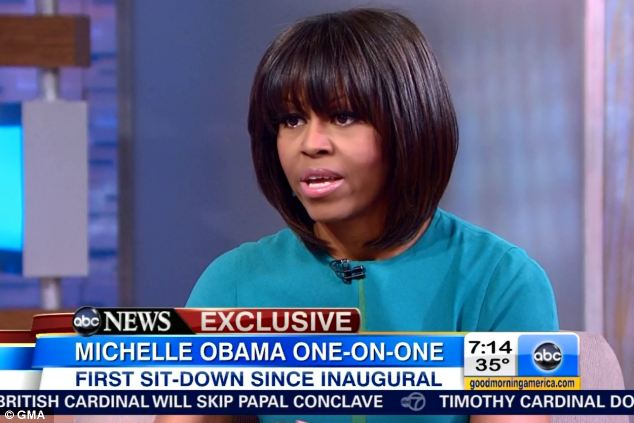 Tragedy: Michelle Obama spoke about the death of 15-year-old Hadiya Pendleton on GMA on Tuesday