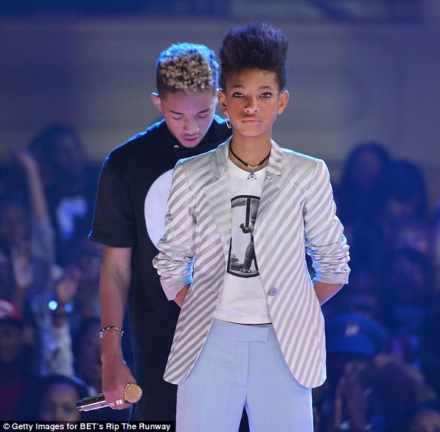 Twice the talent: Jaden and Willow Smith wow the crowd at the BET Rip The Runway event in New York on Wednesday night