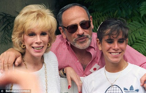 Joan Rivers poses with her husband Edgar Rosenberg and daughter Melissa. He died in 1987